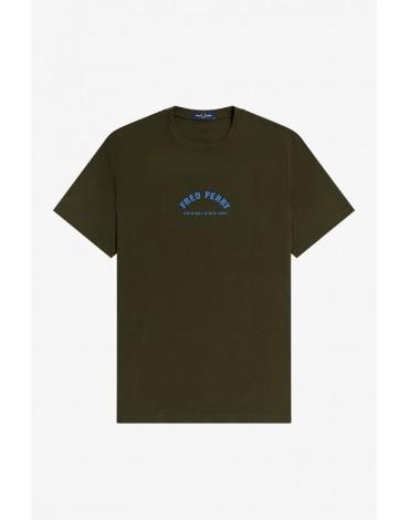 Fred Perry green t-shirt Sportswear logo