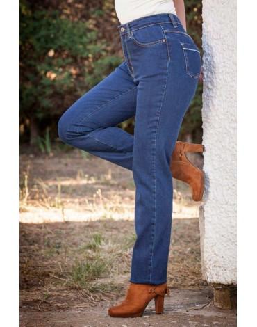 Waltron women's high waisted jean pants