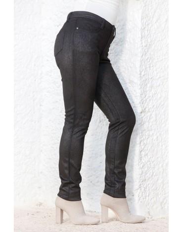 Waltron women's black skinny pants