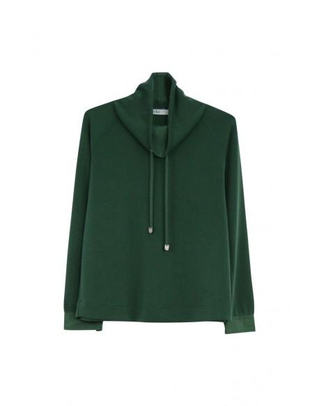 MdM sudadera verde cuello alto ropa mujer