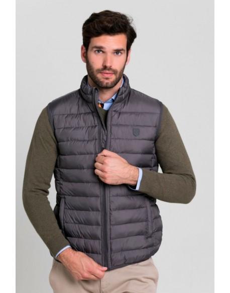 Valecuatro men's gray padded vest