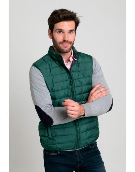 Valecuatro men's green padded vest