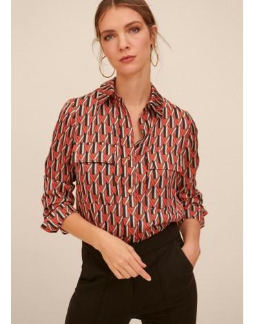 Multicolored print shirt