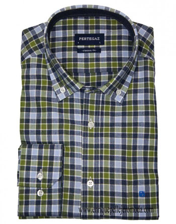 Pertegaz checked shirt