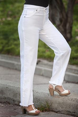 Waltron wide white jean