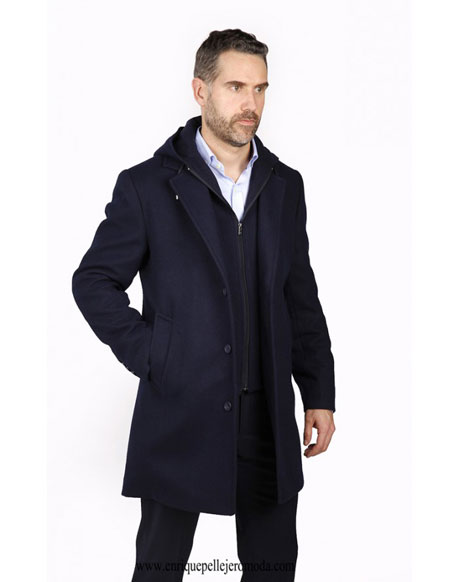 Enrique Pellejero navy blue coat