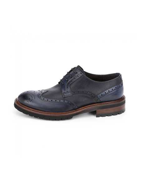 Chopo shoes derby mountain navy blue