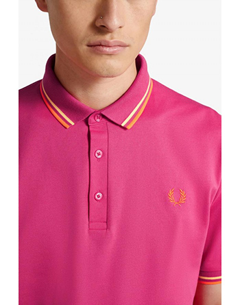 Fred Perry magenta polo shirt made in Japan