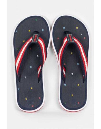 Valecuatro navy blue flip flops