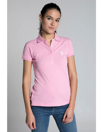 Valecuatro pink polo shirt girl